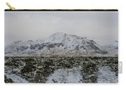 Snowy Lava Fields Iceland Carry-all Pouch