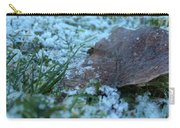 Snowy Leaf Carry-all Pouch