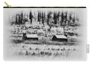 Snowy Log Cabins At Valley Forge Carry-all Pouch