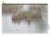 Snowy Marsh With Duck Carry-all Pouch