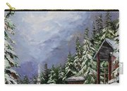 Snowy Mountain Resort Carry-all Pouch