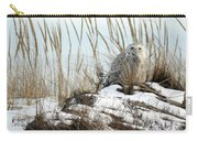 Snowy Owl In Dunes #2 Carry-all Pouch