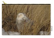 Snowy Owl In Grass Carry-all Pouch