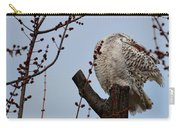 Snowy Owl Preening Carry-all Pouch
