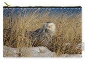 Snowy Owls On The Beach Carry-all Pouch