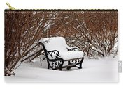 Snowy Park Bench Carry-all Pouch