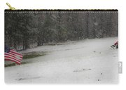 Snowy Patriot Quantico National Cemetery Carry-all Pouch