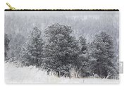 Snowy Pines In The Pike National Forest Carry-all Pouch