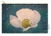 Snowy Poppy Carry-all Pouch