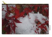 Snowy Red Maple Carry-all Pouch