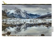 Snowy Reflections In Medicine Lake Carry-all Pouch