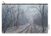 Snowy Road At Dawn  Carry-all Pouch