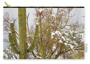 Snowy Saguaro Carry-all Pouch