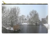 Snowy Scenery Round Canals Carry-all Pouch