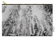 Snowy Sequoias At Calaveras Big Tree State Park Black And White 3 Carry-all Pouch