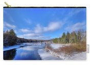 Snowy Shore Of The Moose River Carry-all Pouch