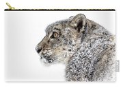 Snowy Snow Leopard Carry-all Pouch