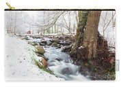 Snowy Stream Landscape Carry-all Pouch