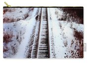 Snowy Train Tracks Carry-all Pouch