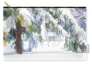 Snowy Trees In Winter Landscape  Carry-all Pouch