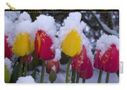 Snowy Tulips Carry-all Pouch