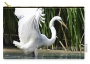 Snowy White Egret In The Wetlands Carry-all Pouch