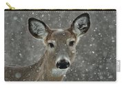 Snowy Winter Deer Carry-all Pouch