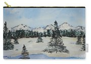 Snowy Winter Carry-all Pouch by Jimmy Clark