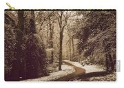 Snowy Woodland Walk One Carry-all Pouch