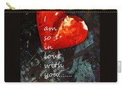 So In Love With You - Romantic Red Heart Painting Carry-all Pouch