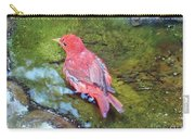 Soaking Summer Tanager Carry-all Pouch