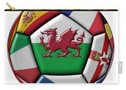 Soccer Ball With Flag Of Wales In The Center Carry-all Pouch