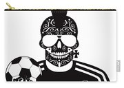 Soccer Skull Icon Background With Sunglasses And Ball. Carry-all Pouch