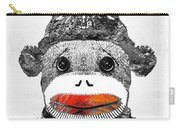 Sock Monkey Art In Black White And Red - By Sharon Cummings Carry-all Pouch