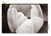 Soft And Sepia Tulip Carry-all Pouch