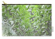 Soft Green And Gray Abstract Carry-all Pouch