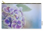 Soft Hydrangeas On Blue Carry-all Pouch