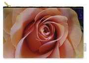 Soft Peach Rose Carry-all Pouch