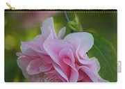 Soft Pink Camellia Carry-all Pouch