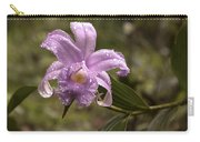 Soft Pink One-day Orchid With Droplets Of Dew Carry-all Pouch