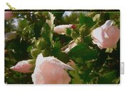 Soft Pink Rose Of Sharon Carry-all Pouch