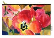 Soft Quilted Tulips Carry-all Pouch