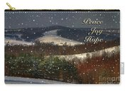 Soft Sifting Christmas Card Carry-all Pouch by Lois Bryan