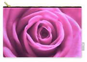 Soft Touch Pink Rose Carry-all Pouch