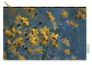 Softly Yellow And Blue Carry-all Pouch