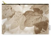 Softness Of Brown Maple Leaves Carry-all Pouch