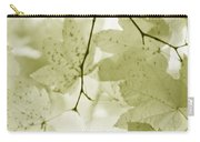 Softness Of Olive Green Maple Leaves Carry-all Pouch