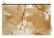 Softness Of Rusty Brown Leaves Carry-all Pouch