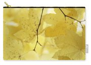 Softness Of Yellow Leaves Carry-all Pouch