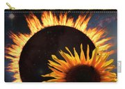 Solar Corona Over The Sunflowers Carry-all Pouch